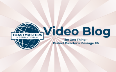 The One Thing – District Director Message's #6