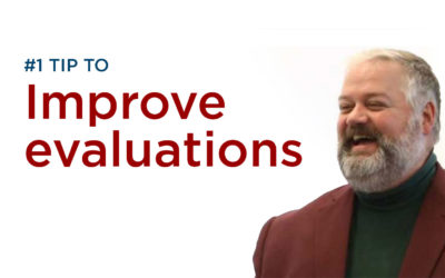What is the #1 change we can make to improve our evaluations?