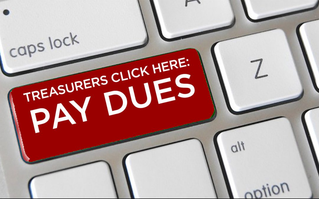Help your club out: Dues are due March 31