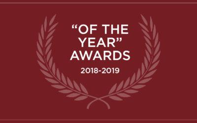 """Celebrating """"Of the Year"""" Awards, 2018-2019"""
