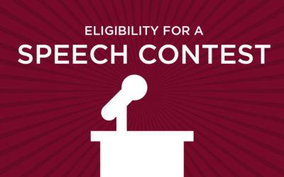Speech Contestant Eligibility