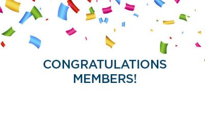 Congratulations to our members!