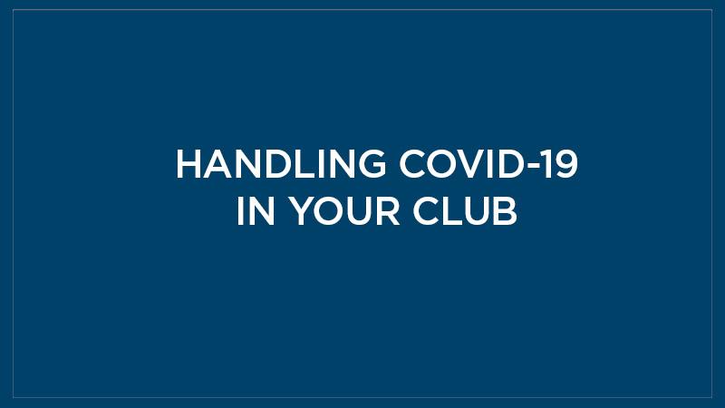 CORONAVIRUS AND YOUR CLUB