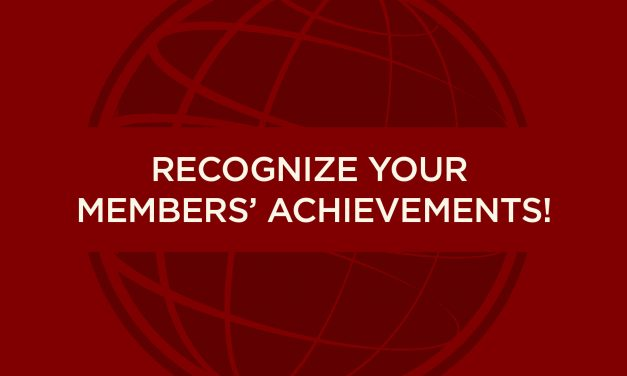 RECOGNIZING TOASTMASTERS ACHIEVEMENTS
