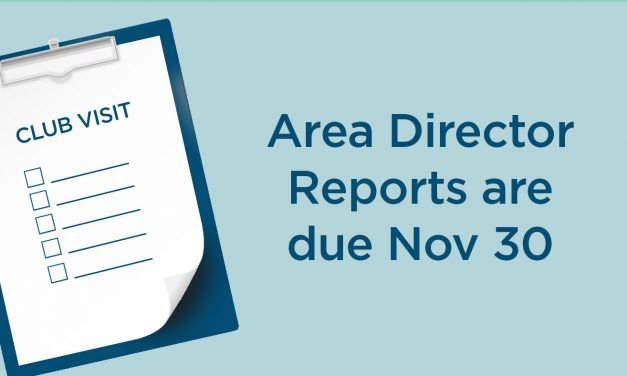 Area Director Reports Deadline Approaching