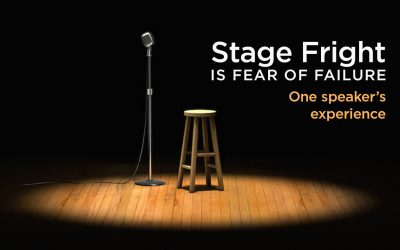 Stage Fright Is Fear of Failure