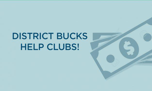 District Bucks Help Clubs