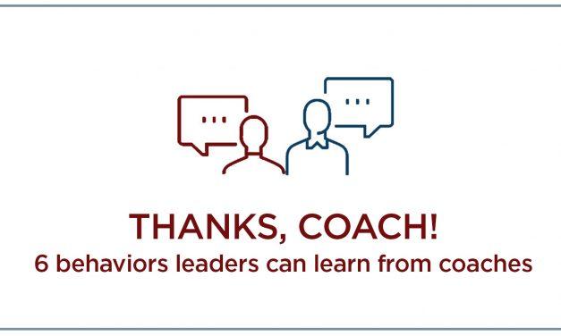Thanks, Coach: 6 TASKS FOR COACHES