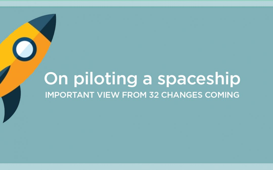 On Piloting a Spaceship: Newsletter CHANGES