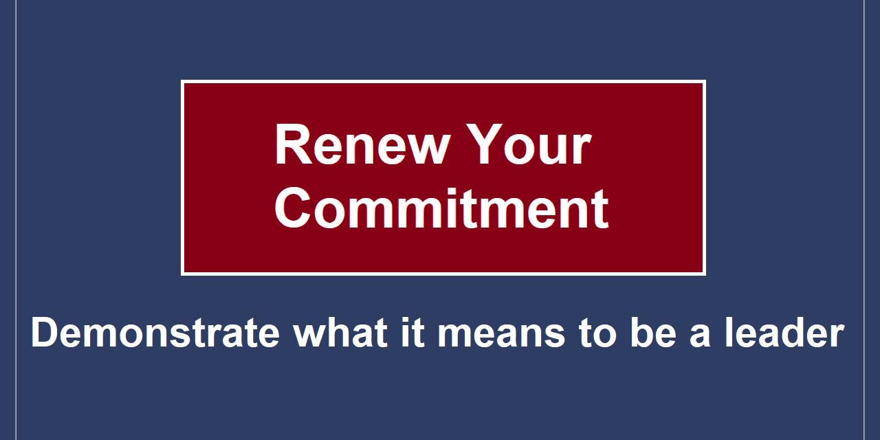 Renew Your Commitment